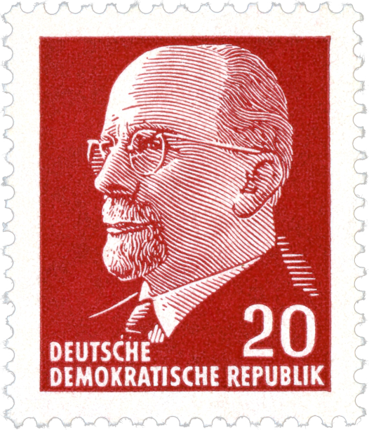 Stamp Briefmarke Walter Ulbricht, 1961
