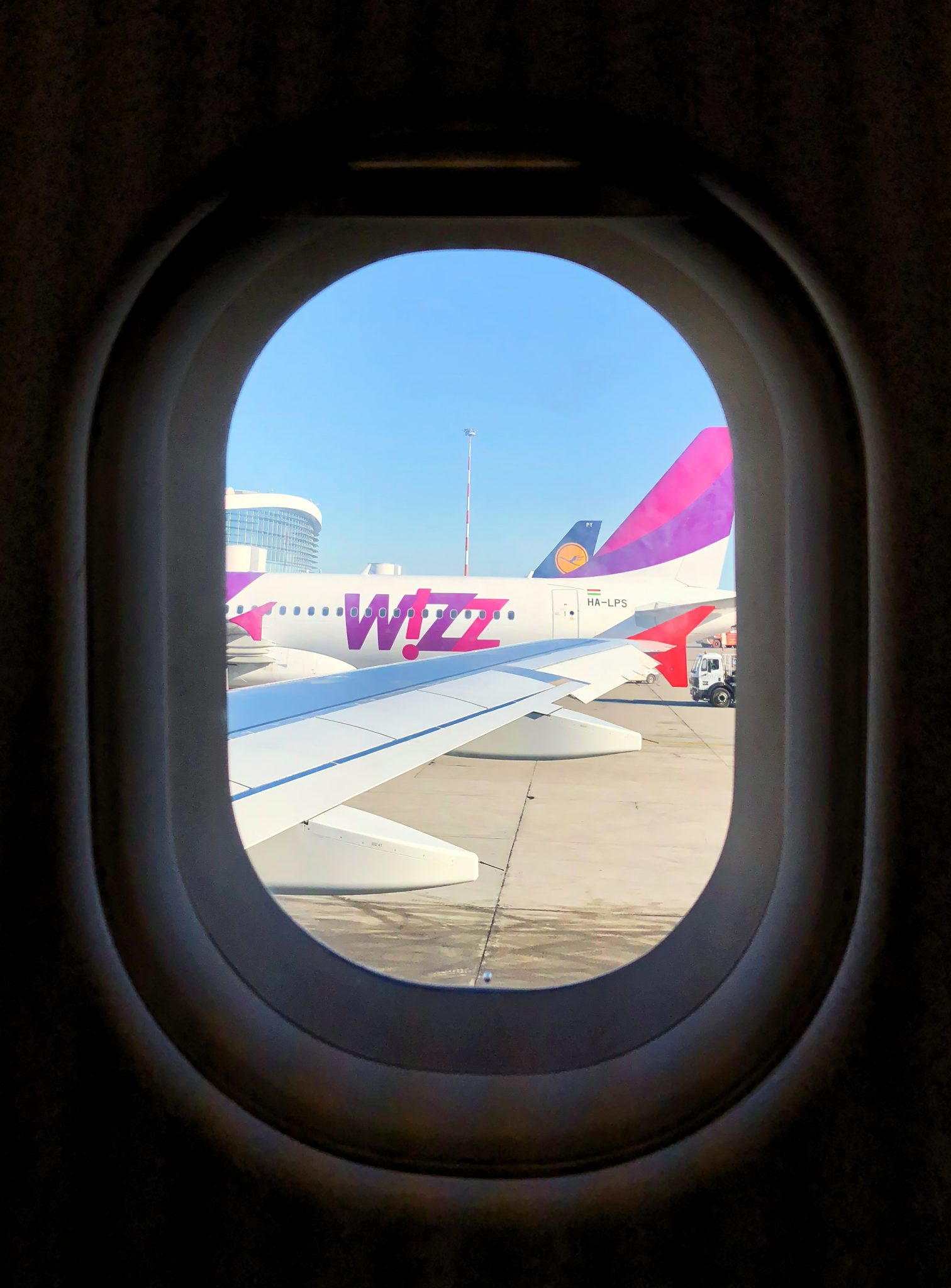 View through aircraft window