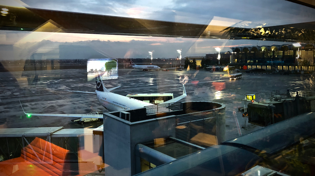 Bucharest Otopeni Int'l view from inside business lounge